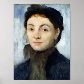 Edgar Degas | Portrait of Josephine Gaujelin, 1867 Poster