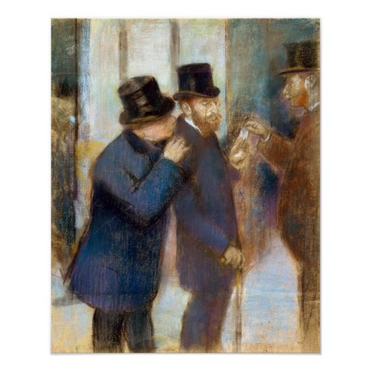 Edgar Degas Portraits at the Stock Exchange Poster