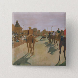 Edgar Degas | Race Horses in front of the Stands 15 Cm Square Badge