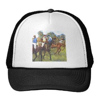 Edgar Degas - Race Horses Jockey Trees Rennpferde Cap