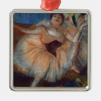 Edgar Degas | Seated Dancer, 1879-80 Silver-Colored Square Decoration