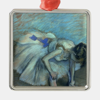 Edgar Degas | Seated Dancer, c.1881-83 Silver-Colored Square Decoration
