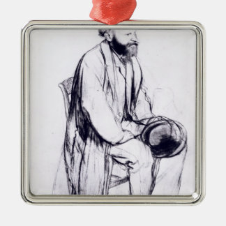 Edgar Degas | Study for a portrait of Manet Silver-Colored Square Decoration