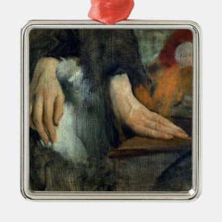 Edgar Degas   Study of Hands, 1859-60 Silver-Colored Square Decoration