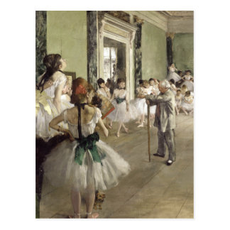 Edgar Degas | The Ballet Class | New Address Postcard