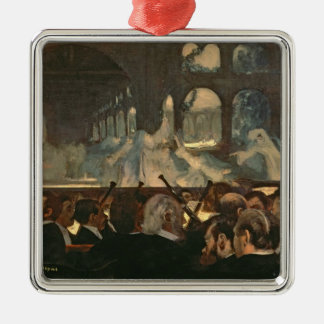 Edgar Degas | The ballet scene, Meyerbeer's opera Silver-Colored Square Decoration