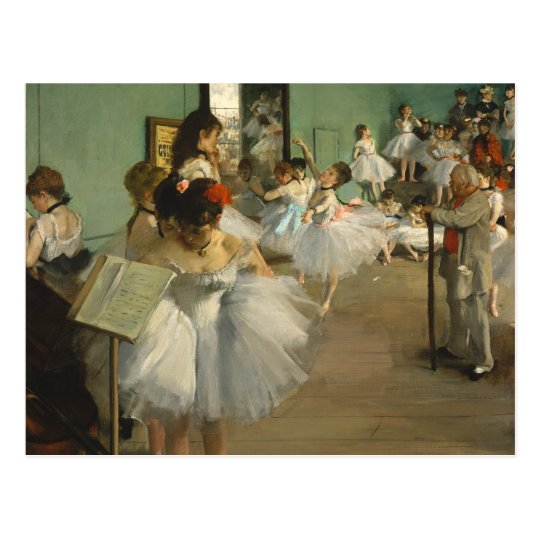 Edgar Degas The Dance Class Postcard
