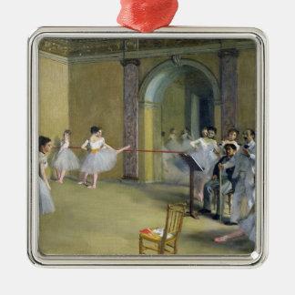 Edgar Degas   The Dance Foyer Silver-Colored Square Decoration