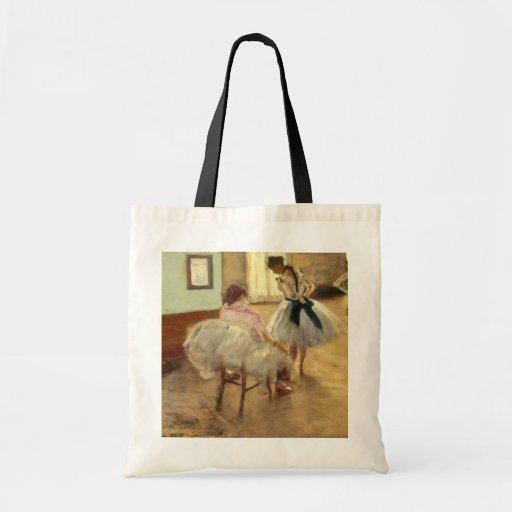 Edgar Degas The Dance Lesson Canvas Bags