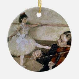Edgar Degas | The Dance Lesson, c.1879 Round Ceramic Decoration