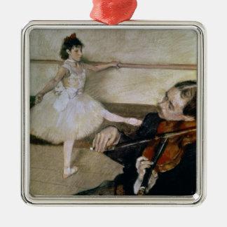 Edgar Degas | The Dance Lesson, c.1879 Silver-Colored Square Decoration