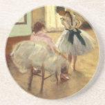 Edgar Degas The Dance Lesson Drink Coaster