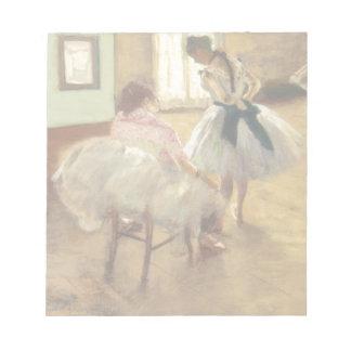 Edgar Degas The Dance Lesson Notepad