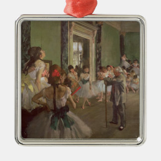 Edgar Degas   The Dancing Class, c.1873-76 Silver-Colored Square Decoration