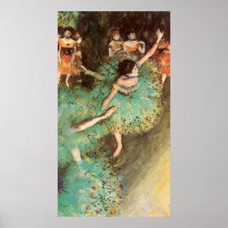 Edgar Degas The Green Dancer Poster