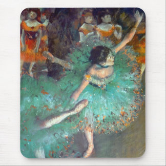 Edgar Degas - The Green Dancers - Ballet Dance Mouse Pad