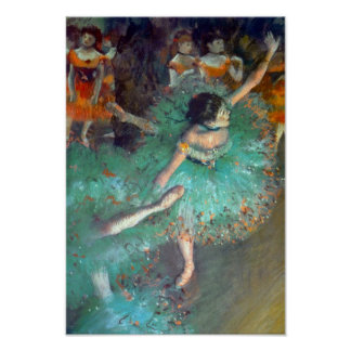 Edgar Degas - The Green Dancers - Ballet Dance Poster