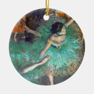 Edgar Degas - The Green Dancers - Ballet Dance Round Ceramic Decoration
