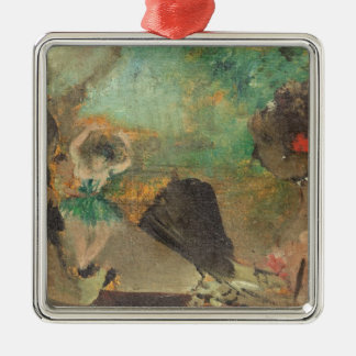 Edgar Degas | The Loge, c.1883 Silver-Colored Square Decoration
