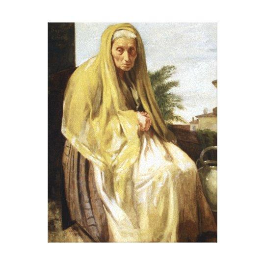 Edgar Degas The Old Italian Woman Canvas Print