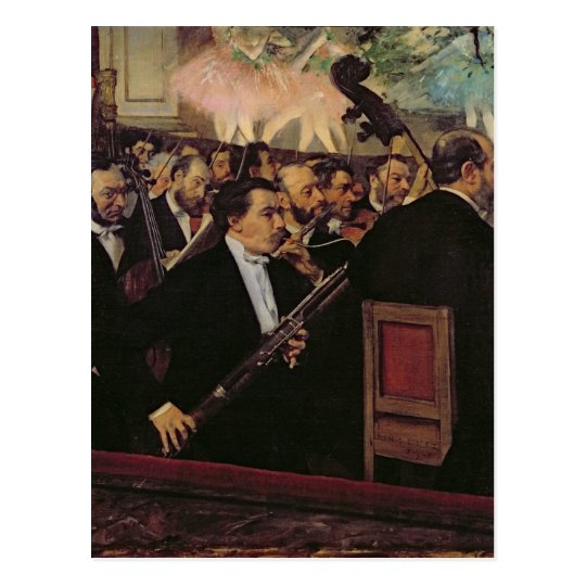 Edgar Degas | The Opera Orchestra, c.1870 Postcard
