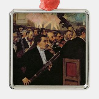 Edgar Degas   The Opera Orchestra, c.1870 Silver-Colored Square Decoration