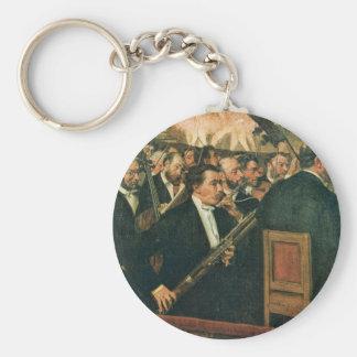 Edgar Degas The Orchestra of the Opera Basic Round Button Key Ring