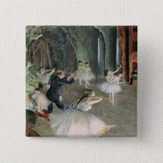 Edgar Degas | The Rehearsal of the Ballet on Stage 15 Cm Square Badge