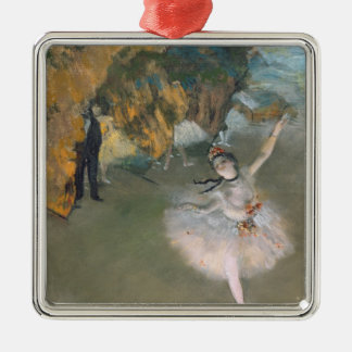 Edgar Degas | The Star, or Dancer on the stage Silver-Colored Square Decoration