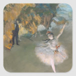 Edgar Degas | The Star, or Dancer on the stage Square Sticker