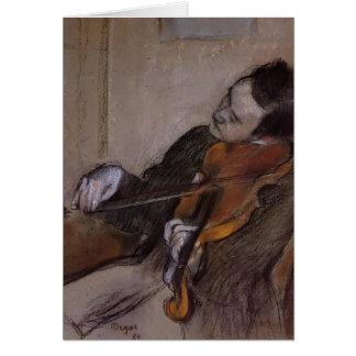 Edgar Degas: The Violist Greeting Card
