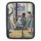 Edgar Degas - Three dancers in a practice room iPad Sleeve