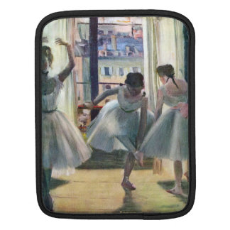 Edgar Degas - Three dancers in a practice room iPad Sleeve