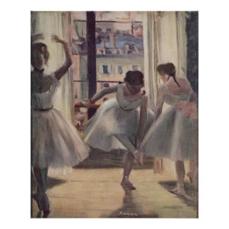 Edgar Degas - Three Dancers in Practice Room 1873 Poster