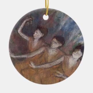 Edgar Degas | Trois Danseuses Round Ceramic Decoration