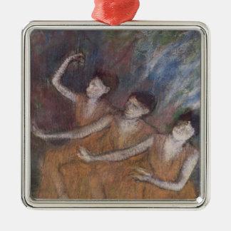 Edgar Degas | Trois Danseuses Silver-Colored Square Decoration