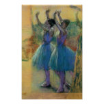 Edgar Degas | Two Blue Dancers Poster