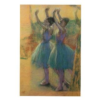 Edgar Degas   Two Blue Dancers Wood Wall Decor
