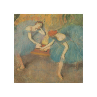 Edgar Degas   Two Dancers at Rest, Dancers in Blue Wood Wall Decor