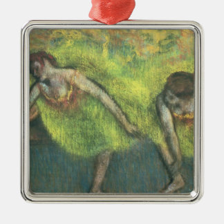 Edgar Degas | Two dancers relaxing Silver-Colored Square Decoration