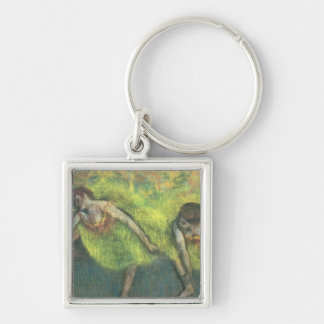 Edgar Degas | Two dancers relaxing Silver-Colored Square Key Ring