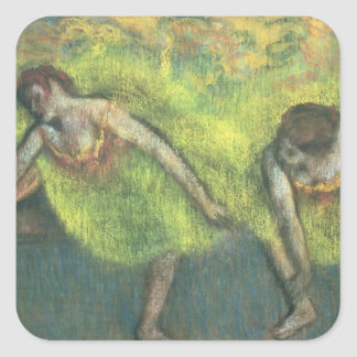 Edgar Degas | Two dancers relaxing Square Sticker