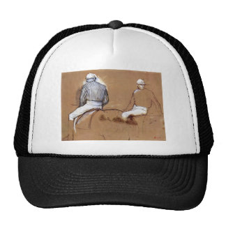Edgar Degas - Two jockeys Hat