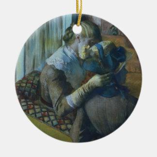 Edgar Degas | Two Women Christmas Ornament