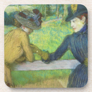 Edgar Degas | Two women leaning on a gate Coaster