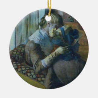 Edgar Degas | Two Women Round Ceramic Decoration