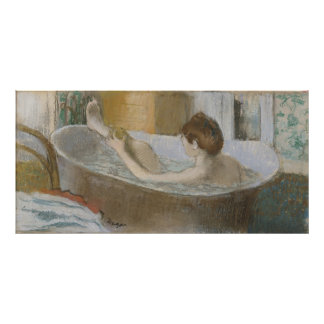 Edgar Degas | Woman in her Bath, Sponging her Leg Poster