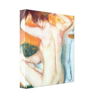 Edgar Degas - Women at the toilet Canvas Print