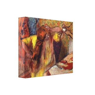 Edgar Degas - Women at the toilet Stretched Canvas Print