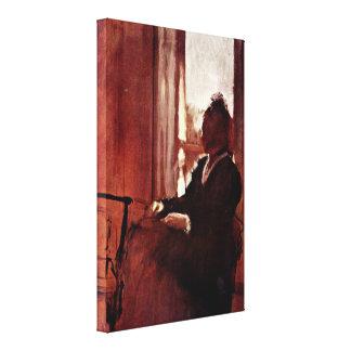 Edgar Degas - Women in the toilet Canvas Print